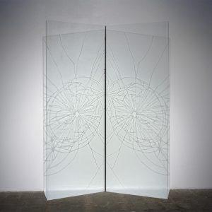 """""""Splayed Window"""" 60 x 76.5 x 22.5"""" Kunsthalle Galapagos, Brooklyn, NY, 2013"""