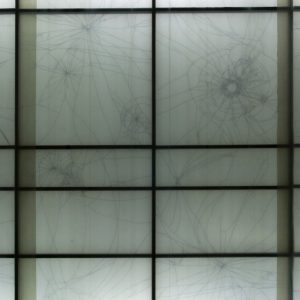 ArtSpace Pot72, Berlin, Germany, 2014 plastic sheeting, wood, paint, marker, fluorescent lights, 3 x 5 m